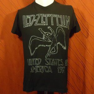 Led Zeppelin - US 1973 - Retro T-shirt - Black - M